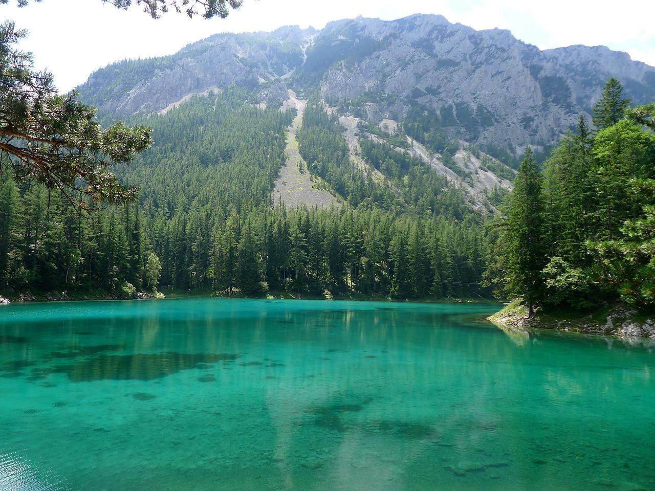 Зеленое озеро в Штирии